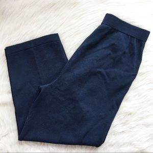 St. John sportswear Santana knit navy blue pants
